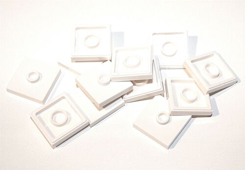 12x LEGO® Platte 2x2 mit 1 Noppe mittig 87580 Konverter Jumper NEU weiss
