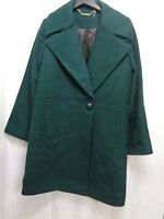 Women's Trina Turk Claire Wool Blend Coat In Bottle Green Size 10