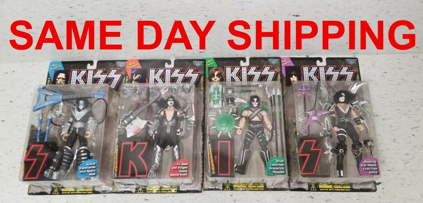 KISS ULTRA ACTION FIGURES  LOT OF 4 50100/0009   ITEM  800116-R1