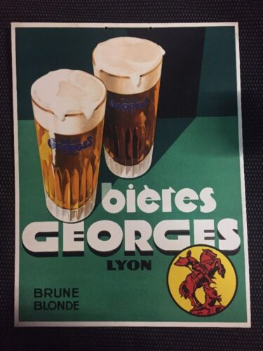 ANTIQUE CARTON ADVERTISING BEERS GEORGES LYON