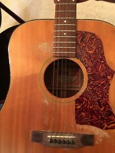 Vintage-1970-039-s-Gibson-J-50-Deluxe-Acoustic-Electric-Guitar-with-Hard-Case