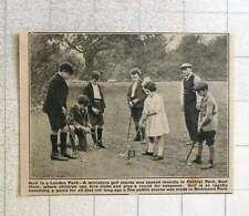 1923 Miniature Golf Course Opened Central Park East Ham 2d Per Round
