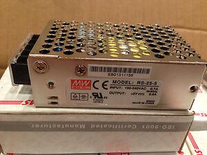 MeanWell-Netzteil-Schaltnetzteil-RS-25-5-LED-Strip-WS2801-5V-5A-25W-Neu-amp-OVP