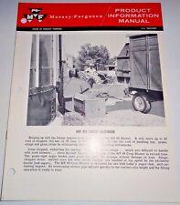 Massey Ferguson MF 88 Crop Blower Product Information Manual Sales Catalog