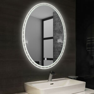Dimmable Large Oval Bathroom Illuminated Led Glass Mirror
