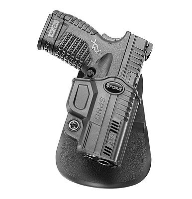 "Spnd Low Price 9mm Honest Fobus Polymer Holster Springfield Xds .40cal & .45cal 3.3"" & 4"""
