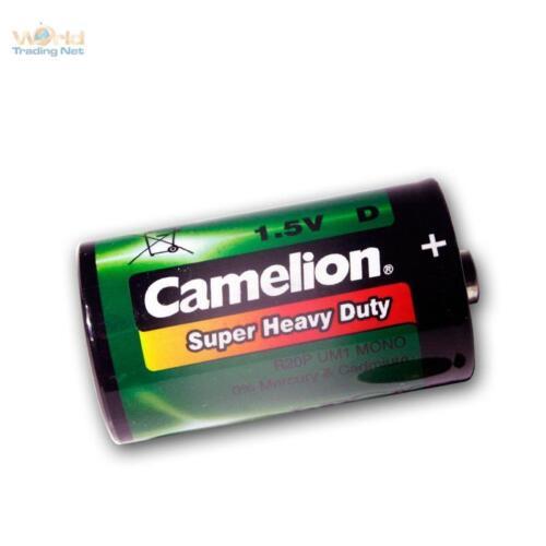 2x Camelion Batterie Batterien LR20 R20 R20P Mono UM1