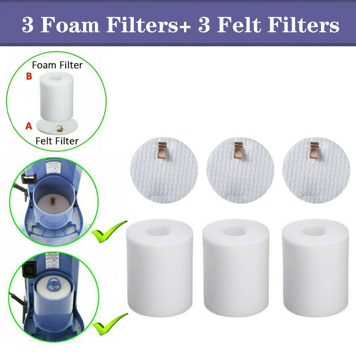 HEPA /& Foam Felt Filter For Shark NV500 NV501 NV5201 NV503 Replacement XFF500
