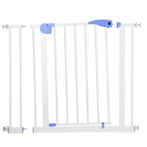 Children Safety Auto Gate Door Stair Fence Fix Baby Pet for 80~90cm Wide Door UK