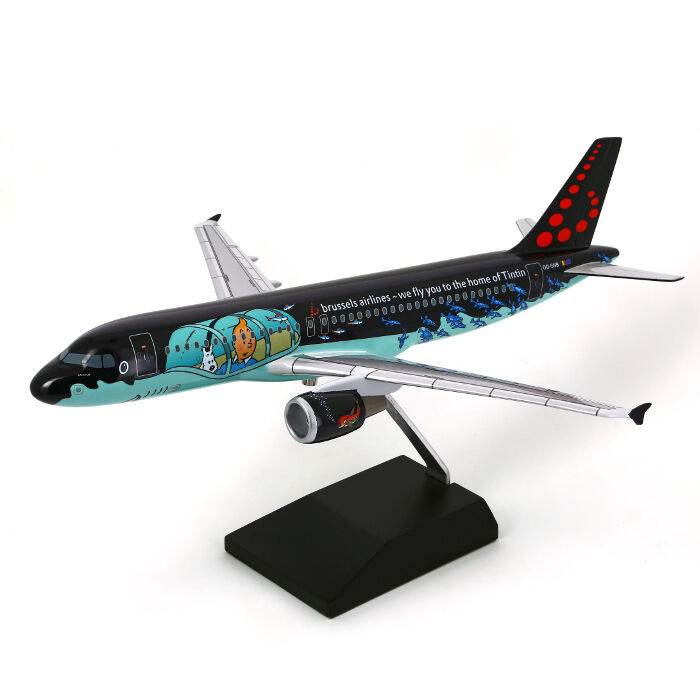 TINTIN MOULINSART HERGE 29664 Airbus A320 Rackham Brussels Airlines 1 100