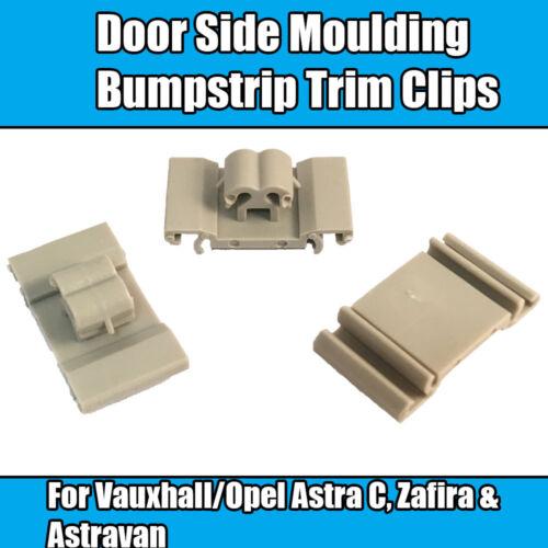 20x Clips Para Opel Astra G Zafira a puerta clips laterales moldeo BUMPSTRIP MOLDURA