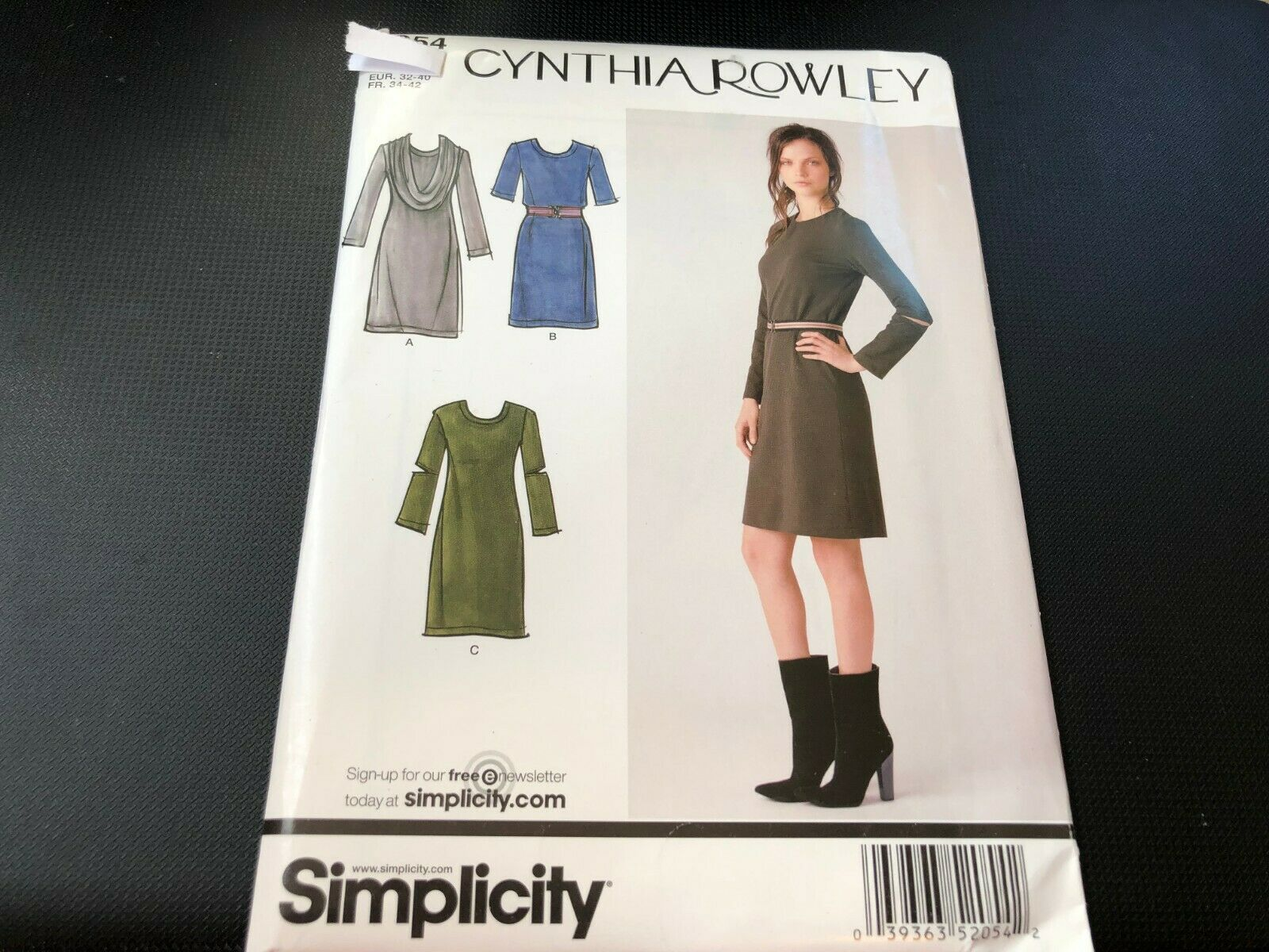 Simplicity Pattern 1810 Misses Pullover Dress Tunic and Pants Sizes 4-26 XXS-XXL