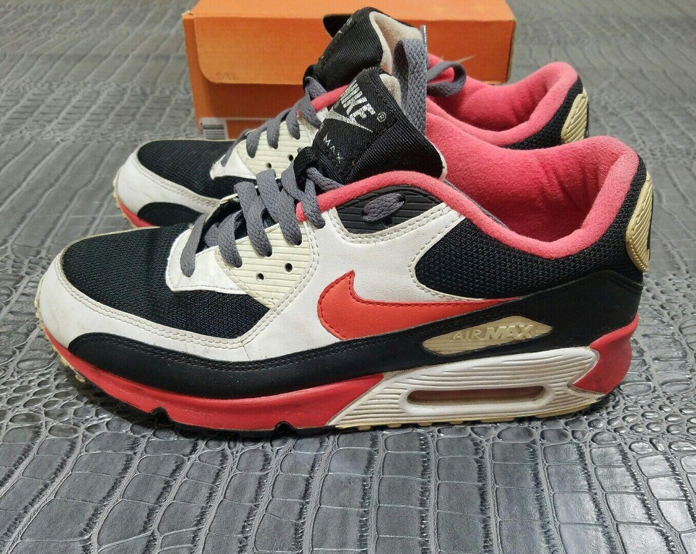 ID de Nike Air Max 90 negro raras negro 90 varsity rojo 314266-991 comodo 124333