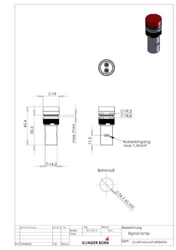 weiß 10 Stück LED Signalleuchten Signallampen 12V AC//DC 4003.4528/_10 Nr