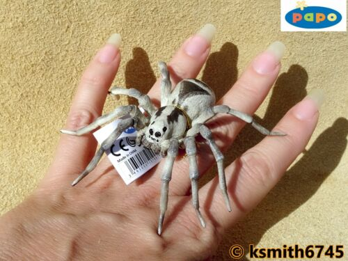 Papo TARANTULA solid plastic toy wild animal insect bug SPIDER NEW *