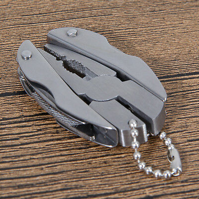 Mini Pocket Multi Function Tools Set Foldaway Keychain Pliers Knife Screwdriver