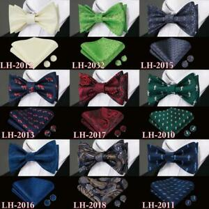 50-Colors-Men-039-s-Self-Bow-Tie-Classic-Bowtie-Blue-Yellow-Black-Solid-Floral-Shark