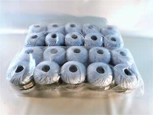 babyblaue-Strick-und-Haekelwolle-20-x-50-g-100-Baumwolle-merzerisiert