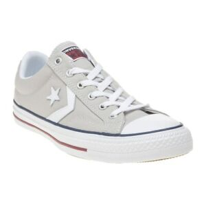 Details about New MENS CONVERSE GRAY STAR PLAYER PREMIUM LEATHER OX TEXTILE Sneakers PLIMSOLLS
