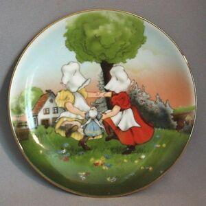 Vintage-ROYAL-BAYREUTH-Sun-Bonnet-Babies-Playtime-COLLECTOR-PLATE-ROUND-DANCE
