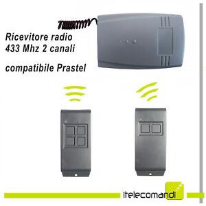 Inquiet Ricevitore Radio Ricevente 2 Canali Rx402 Compatibile Prastel Mpstf2e Mpstf4e