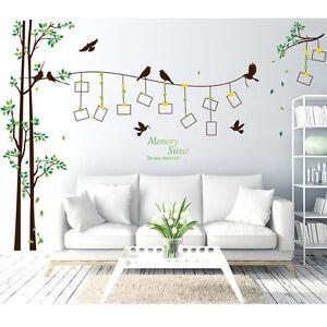 Details zu Wandtattoo Bild Foto Erinnerungen Kinderzimmer Baby groß xxl  Wandsticker Vögel