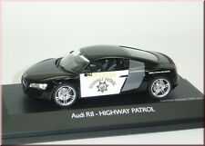"""AUDI R8 """" Highway Patrol """" black / white - Schuco - 1:43 - LE 500 pcs."""