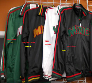 Mexico Track Jacket Black Red Mexico Long sleeve track jacket XS ...