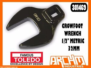 """TOLEDO 301469 - CROWFOOT WRENCH 1/2"""" METRIC - 32MM -  STRAIGHT JAW SQUARE DRIVE"""