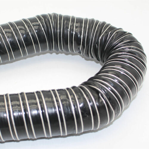 Flexible Black Silicone Coated Air Ducting Induction Duct Pipe Cold Hot Feed