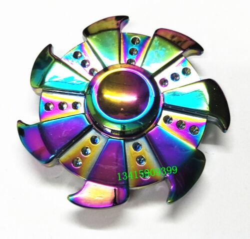 Tri-Spinner Fidget Aluminum Hand Finger Spinner Desk Toys Wholesale