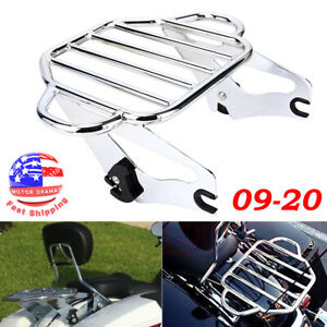 Air Wing Two Up Luggage Rack For Harley Touring Street Glide Road King 2009-2020