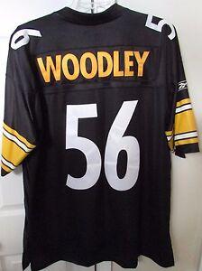 f20da42a073 NFL Pittsburgh Steelers #56 LaMarr Woodley Jersey XL (Length +2) by ...