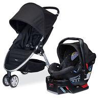 Britax 2015 B-Agile 3 Stroller & B-Safe 35 Infant Car Seat Travel System Black!!