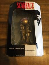 """Scarface The World is Yours Statue Gold Globe Mezco RARE 5.5"""" 2004 Spencers"""