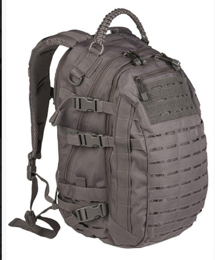 Missione Day Pack Laser Cut gree all'aperto Tempo Libero Daypack Zaino grigio GRIGIO