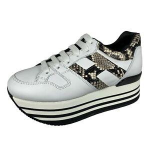 Details about E49 sneakers donna HOGAN H283 MAXI 222 precious print effect shoes women