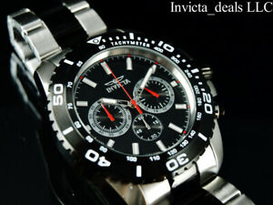 Invicta-Mens-47mm-Pro-Diver-PILOT-Chrono-Black-amp-Red-2Tone-Stainless-Steel-Watch