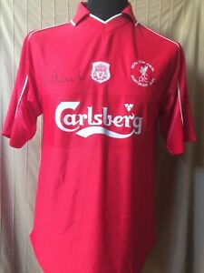 16d0cba62d7 Liverpool UEFA Cup Final 2001 Shirt Signed By Robbie Fowler With ...