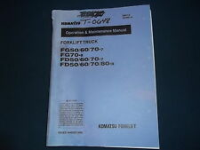 KOMATSU FG50/60/70-7 FG70-8 FD50/60/70-7 -8 OPERATION & MAINTENANCE BOOK MANUAL