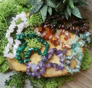 Natural-Gemstone-chip-bracelets-High-quality-crystals-Choose-from-selection