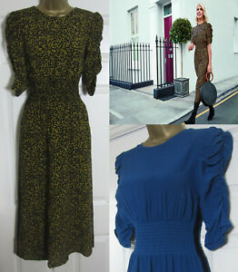 NEW-M-amp-S-Holly-Willoughby-Womens-Animal-or-Teal-Waisted-Midi-Tea-Dress-Size-8-22