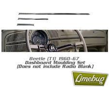 VW Beetle 1960-1967 Deluxe Dashboard Trim Moulding T1 Bug Dash Aluminium Classic