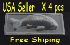 3D Koi Fish Plastic Cake/Chocolate/Jelly/Pudding Mold x 4 pcs set - S-Fast Ship