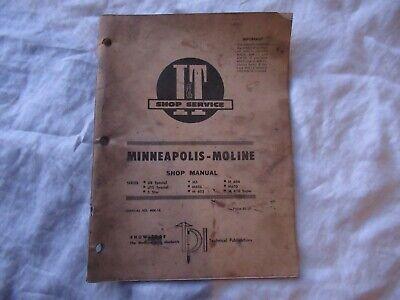 M604 Minneapolis Moline Technical Service Shop Manual M 604