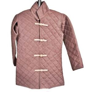 HQ-Viking-Men-039-s-Cotton-Gambeson-Replica-Padded-Armor-Jacket-coat-in-Asian-style