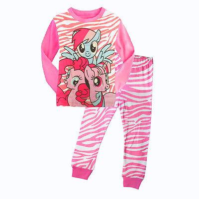 Lovely Cartoon My Little Pony Top Kids Baby Girls Nightwear Pajamas Sleepwear