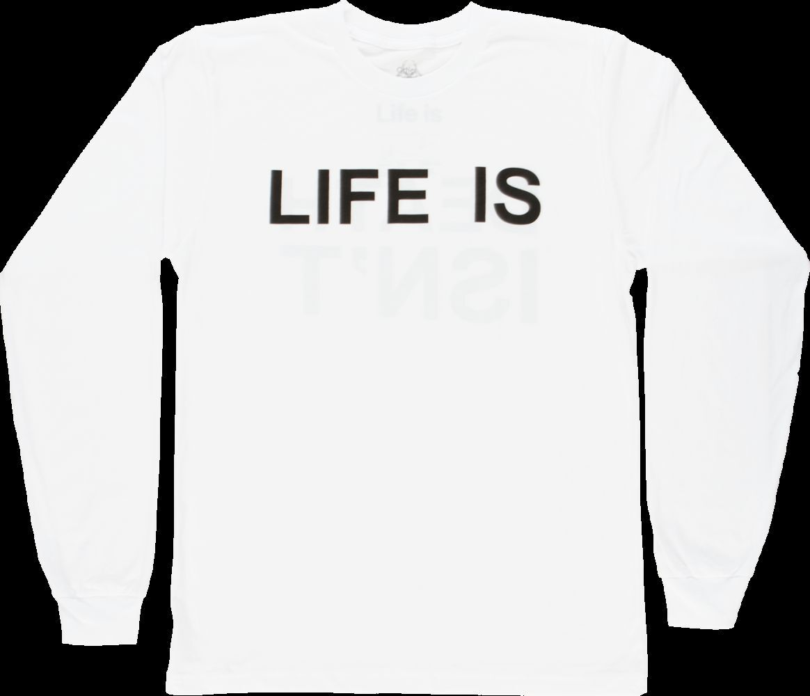 DAMIEN HIRST 'Life Is, Death Isn't' Artist Long-Sleeved T-Shirt M White NEW