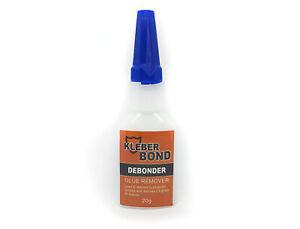 Kleber Bond - CA Adhesive DEBONDER - Super Glue Debonder - Glue Remover - 20g