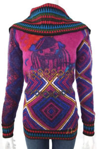 Desigual-Cowl-Neck-Wool-Sweater-Women-Size-M